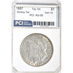1887 MORGAN DOLLAR PCI AU/BU