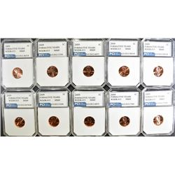 10 - 2009 LINCOLN CENT FORMATIVE YEARS ERROR COINS