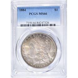 1884 MORGAN DOLLAR PCGS MS66