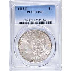 1883-S MORGAN DOLLAR PCGS MS61