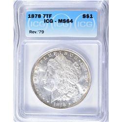 1878 7TF REV '79 MORGAN DOLLAR ICG - MS64
