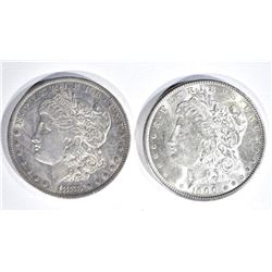 1900 & 1883-O MORGAN DOLLARS  CH BU