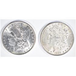 1889 & 1886 MORGAN DOLLARS  CH BU