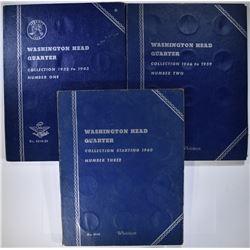 52-CIRC SILVER WASHINGTON QUARTERS IN FOLDERS
