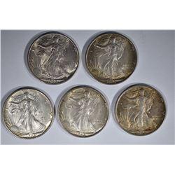5 - 1945 S WALKING LIBERTY HALF DOLLAR