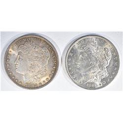 1883-O & 1882 MORGAN DOLLARS  CH BU