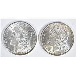 1898 & 1896 MORGAN DOLLARS  CH BU