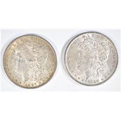 1890 & 1897 MORGAN DOLLARS  CH BU
