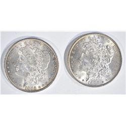 1896 & 1886 MORGAN DOLLARS  CH BU