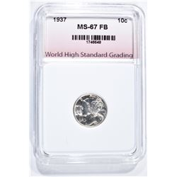 1937 MERCURY DIME, WHSG SUPERB GEM BU FB
