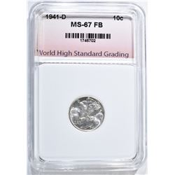 1941-D MERCURY DIME, WHSG SUPERB GEM BU FB