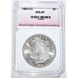 1882-CC MORGAN DOLLAR, WHSG SUPERB GEM BU++