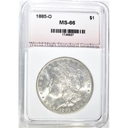 1885-O MORGAN DOLLAR, WHSG SUPERB GEM BU