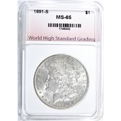 1891-S MORGAN DOLLAR, WHSG GEM BU