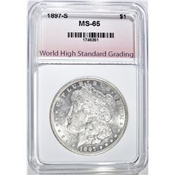 1897-S MORGAN DOLLAR, WHSG GEM BU