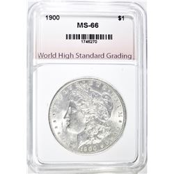 1900 MORGAN DOLLAR, WHSG SUPERB GEM BU