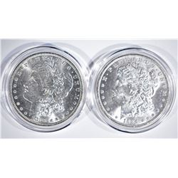 1883-O & 1884-O CH BU MORGAN DOLLARS IN CAPSULES