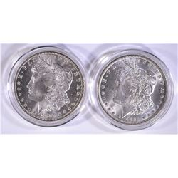 1884-O & 1885-O CH BU MORGAN DOLLARS IN CAPSULES