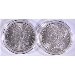 1886 & 1887 CH BU MORGAN DOLLARS IN CAPSULES