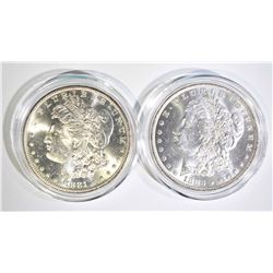 1881-S & 1883-O CH BU MORGAN DOLLARS IN CAPSULES