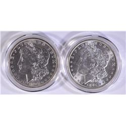 1887 & 1899-O CH BU MORGAN DOLLARS IN CAPSULES