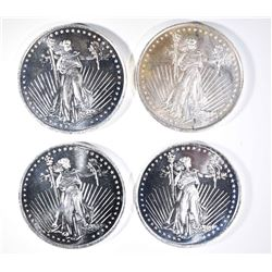 4-ONE OUNCE .999 SILVER ROUNDS