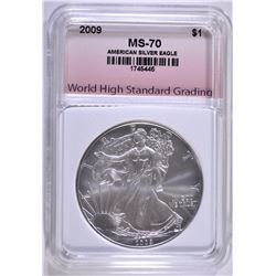 2009 AMERICAN SILVER EAGLE WHSG PERFECT GEM BU