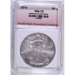2010 AMERICAN SILVER EAGLE WHSG PERFECT GEM BU