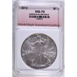 2012 AMERICAN SILVER EAGLE WHSG PERFECT GEM BU