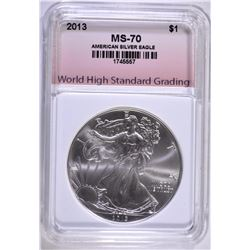 2013 AMERICAN SILVER EAGLE WHSG PERFECT GEM BU