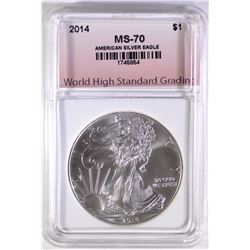 2014 AMERICAN SILVER EAGLE WHSG PERFECT GEM BU