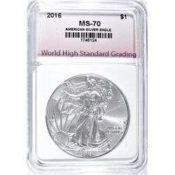 2016 AMERICAN SILVER EAGLE WHSG PERFECT GEM BU