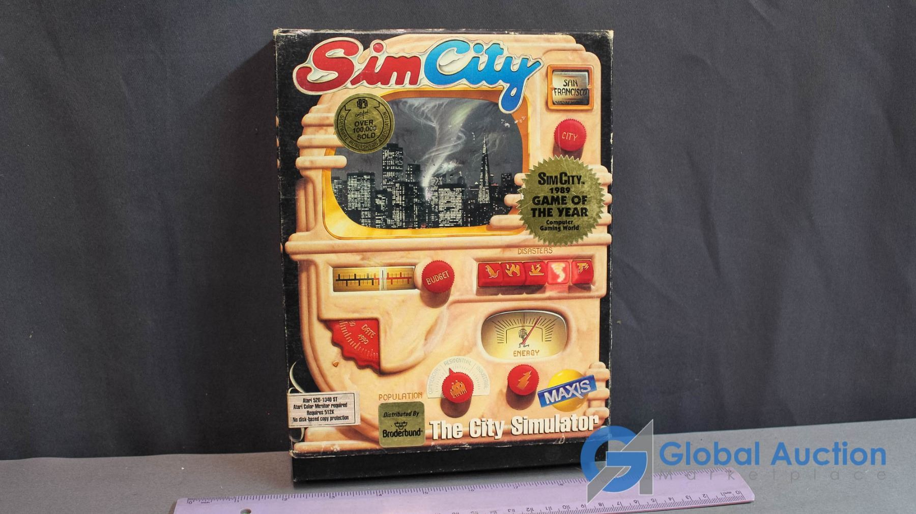 Simcity Atari ST Game With Box