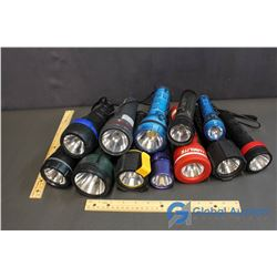 Lot of Flashlights (12) (Coleman, Lumilite, etc.)