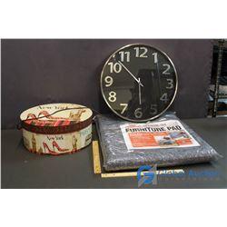 Wall Clock, New Furniture Pad, New Hat Box