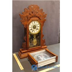 Jadwin Pendilum Clock & Verichron Time Zone Clock