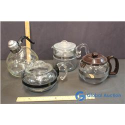Lot of Pyrex Coffee Pots and Tea Pots w/ Misc. Kettle