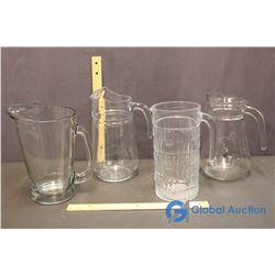Lot of Glass Pitchers (4)
