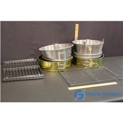 Collection of Cooling Racks and Cake Pans