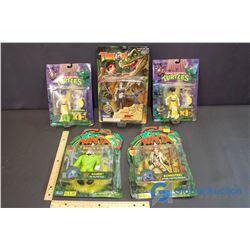 NIB Teenage Mutant Ninja Turtles and Turok Toys (5)