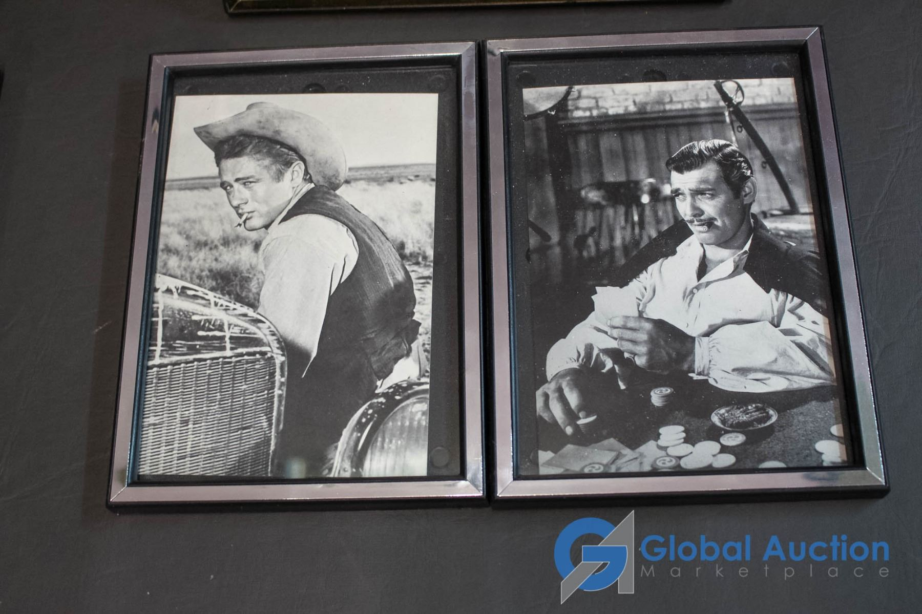 6 Framed Hollywood Photos Elvis Presley Marilyn Monroe Judy Garland James Dean