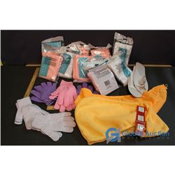 Large Lot of Spa Items - 5 Pairs of Exfoliating Gloves