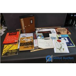 Lot of Calligraphy Books and Paper