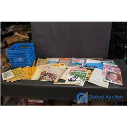 Lot of Music Books and Papers w/ Plastic Crate
