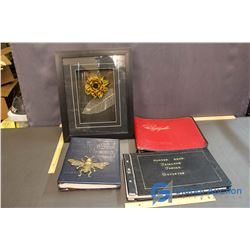 Lot of Photograph and Scrap Books w/ Shadow Box Flower
