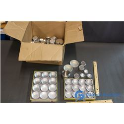 Box of Assorted Little Metal Containers