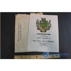 Official Souvenir Programme of the Royal Visit to Saskatoon 1959