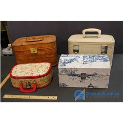 (4) Vintage Carrying Cases