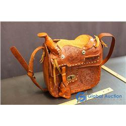 Handmade Leather Saddle Style Purse