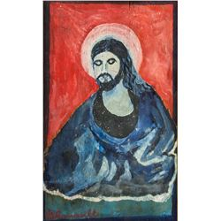 French Fauvist Oil Panel Signed G. Rouault